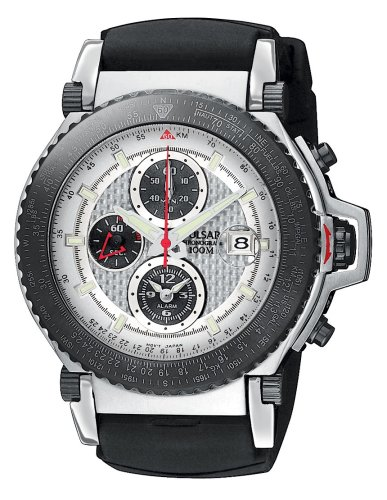 Pulsar Men's PF3781 Tech Gear Flight Computer Alarm Chronograph (Alarm Chronograph 100m Mens Watch)