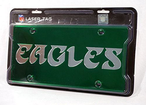Rico Philadelphia Eagles Deluxe Mirrored Laser Cut License Plate ()
