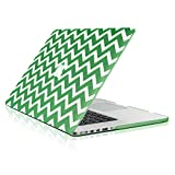 TOP CASE Chevron Series Ultra Slim Light Weight Rubberized Hard Case Cover Compatible with Apple MacBook Pro 15'' with Retina Display Model: A1398 (Release June 2012-2015) - with TOP CASE Chevron Mouse Pad