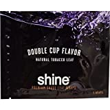 Shine Double Cup Leaves Natural Shade Rolling Leaf Wrap Paper Thin Grape 3 per pack BOX OF 16