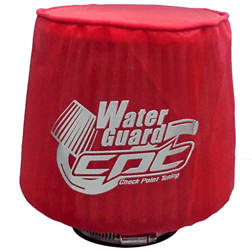 "CPT Universal Water Guard Short Ram Cold Air Intake Pre-Filter Air Filter Cover CPT-WG-S-R (Small 5.25""Wx6.25""H, Red)"