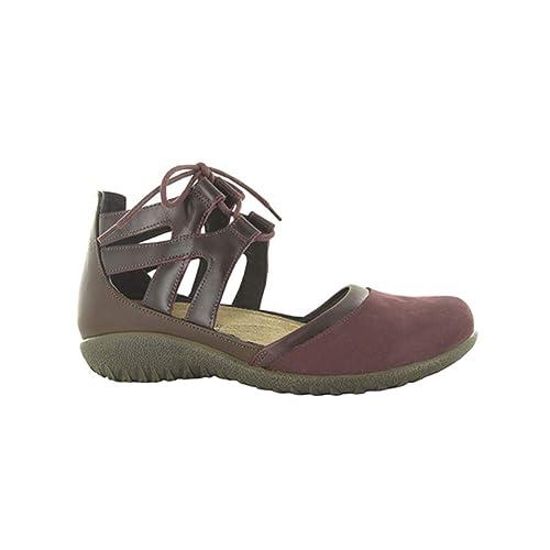 4a279c01c38 Naot Footwear Women s Lace-up Kata Shoe Violet Nubuck Bordeaux Lthr Toffee  Brown