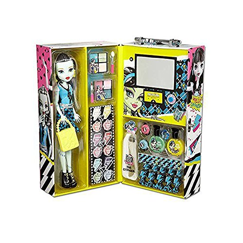 Monster High Frankie Fashion Doll Case with 57 pcs Ghoul Beauty Collection ()
