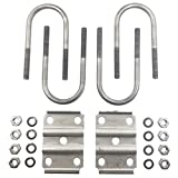 Trailer U-Bolt Kit for 3'' Round Axles - 5,200lb - 7,000lb Axles - For 2'' Wide Springs