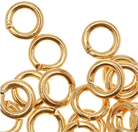 22K Gold Plated Open Jump Rings 5mm 19 Gauge 50