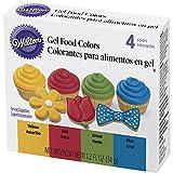 Wilton 601-5581 4 Piece Primary Color Gel Icing Set