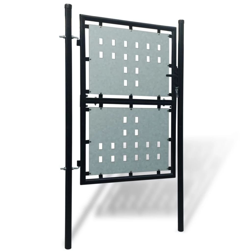 Cancello cancelletto per recinzione singolo nero 100 x 225 cm.Questo Design del Cancello sono Robusto e Sicuro cancello giardino nice cancello porta giardino cancelli esterno