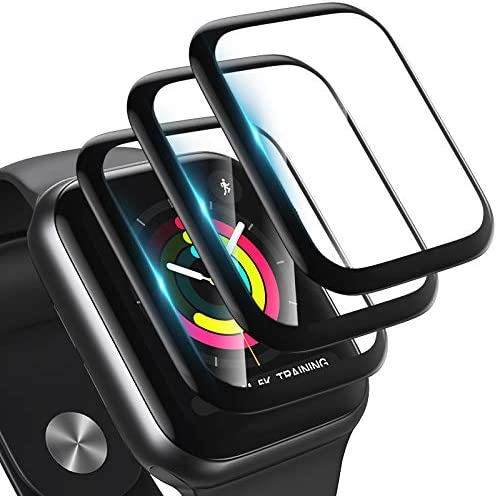 [3 Pack] Screen Protector for Apple Watch Series 3/2/1 38MM Bubble-Free, 3-D Full Coverage Anti-Scratch Shatter-Proof HD Clear Waterproof Screen Protector Film for Apple iWatch 38MM Series 3/2/1