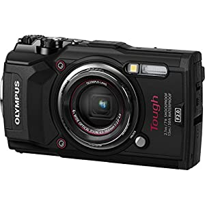 Olympus TG-5 Waterproof Camera with 3-Inch LCD (Black) with I3ePro 16GB Class 10 SD Card, Camera Case and Accessory Bundle from Pixibytes