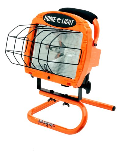 Woods L33 Cci Contractor Portable Work Light with Switch, 120 V, 500 W Halogen Lamp, Watt, Orange