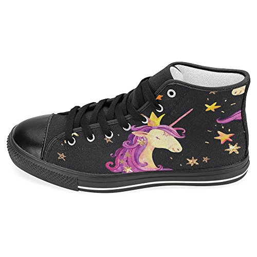 b3d39d3b17899 InterestPrint Women Canvas Shoes Unicorn Princess High Top Trainers ...