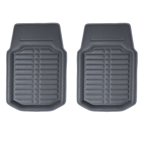 FH Group F14409SOLIDGRAY-FRONT-AVC Solid Floor Mat (Front Set Only Gray s Deep Tray All Weather)