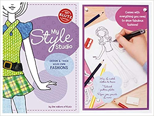 My Style Studio Design Trace Your Own Fashions Klutz Editors Of Klutz The Editors Of Klutz 0730767456795 Amazon Com Books