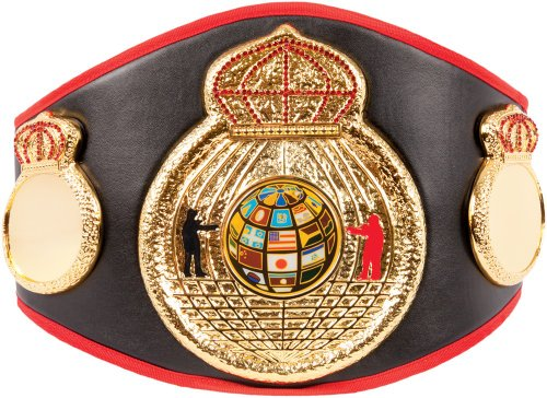 Costume Boxing Championship Belt (Triple Crowns Of A Champion Title Belt, Black)