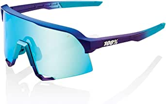 100% S3 Sunglasses - Mirror Lens - 61034 (Matte Metallic Into The Fade - Blue Topaz Multilayer Mirror Lens)