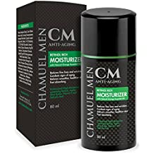 Chamuel Men Anti-Aging Daily Facial Moisturizer with 2.5% Retinol. Reduce Face & Eye Wrinkles, Restore and Maintain a Youthful Appearance while You Sleep. Nutrient Rich Formula. Guaranteed Results!