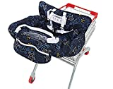 UNKU Multifunctional 2-in-1 Shopping Cart Seat Cover High Chair Cover for Baby & Infant - Starnight Black