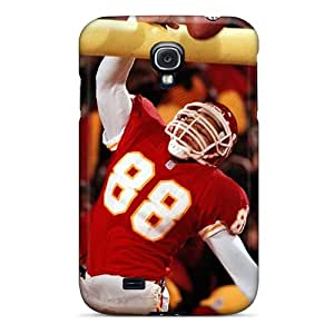 KevinCormack Galaxy S4 Scratch Protection Mobile Cover Allow Personal Design Trendy Kansas City Chiefs Pattern [NUZ4022YYkF]