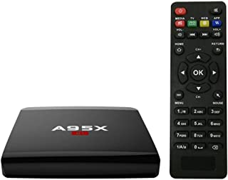 Youtaimei TV Box A95X R1 Smart Android 7.1.2 Boîtier TV Amlogic S905W Quad Core H.265 VP9 2 Go / 16 Go DLNA Miracast Airplay WiFi LAN Lecteur multimédia HD Prise Anglaise Produit satisfaisant