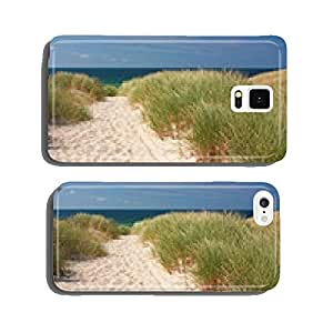 Way to the beach by dunes at Kampen on Sylt in the North Sea cell phone cover case Samsung S6