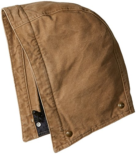 Brown Hood - Carhartt Men's Quilt-Lined Sandstone Hood, Frontier Brown, SM-XL