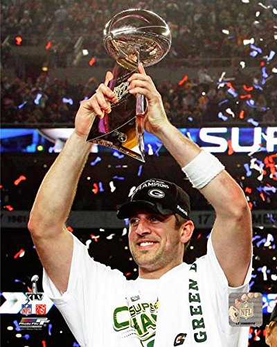 size 40 b455d 10d14 Amazon.com: Green Bay Packers Aaron Rodgers Holding The ...