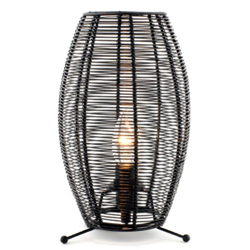 Evie Black Wire Cone Shaped Table Lamp Amazon Co Uk Lighting