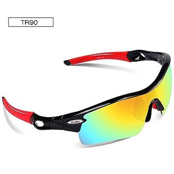 Polarisierte Sport Sonnenbrille für Damen Herren, Gläser für das Radfahren, das Fischen-Golf-Baseball läuft TR90