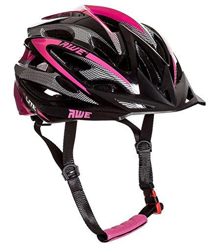 AWE Aerolite Women's Pink Lady Bicycle Helmet - White/Pink, Size 56-58