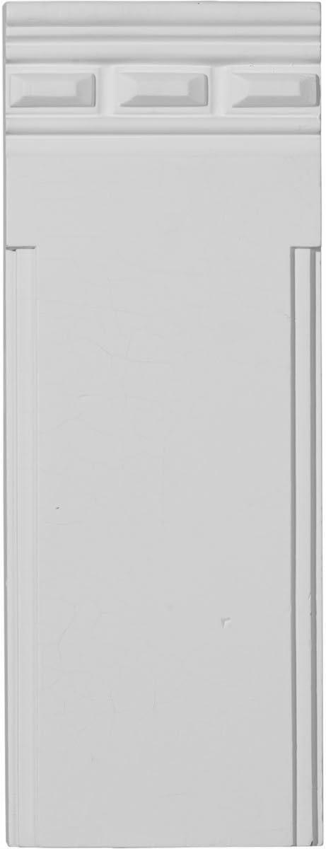 Plinth Block Ekena Millwork PB04X11X01DE-CASE-2 4 1//2 W x 11 3//4 H x 1 1//4 P Devon Traditional Primed White x x 2-Pack
