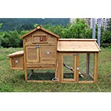 Chicken Poultry Coop Hen House Rabbit Hutch Cage-SMALL 0313S, Not Applicable
