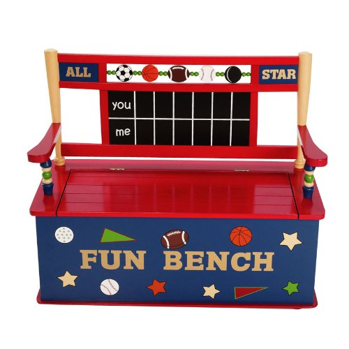 All Star Sports Kid's Storage Bench by Levels of Discovery