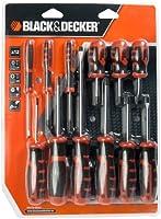 BLACK+DECKER BDHT0-66451 - Juego de 12 destornilladores con punta magnética