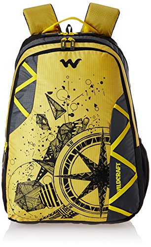 Wildcraft Polyester 35 Ltrs YLW and TJ School Backpack (Dare)