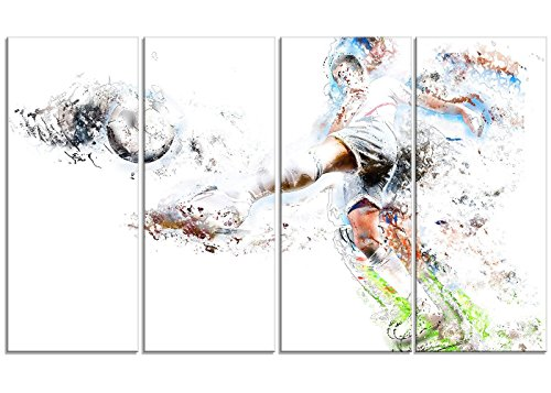 Digital Art PT2568-271 ''Soccer Defense'' Sport Canvas Art Print, Large by Digital art