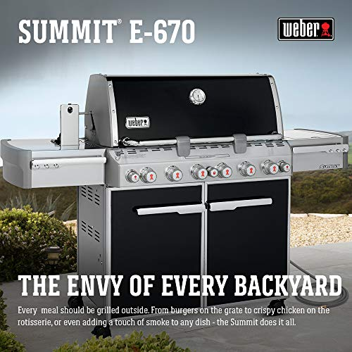 (Weber 7471001 Summit E-670 6-Burner Natural Gas Grill, Black)