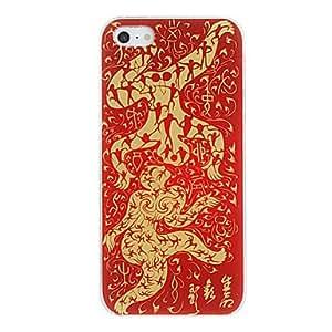 ZCL-Kung Papel-cortes patrón caso duro Fu figura PC para el iPhone 5/5S (colores surtidos)