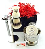 DE safety Razor Mens grooming Shaving set Classic Straight Razor, Good for sensitive skin, Perfect gift shaving set for him, Holiday Season