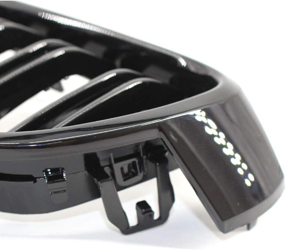para F30 F31 1 par color negro Rejilla delantera doble para rejilla de radiador