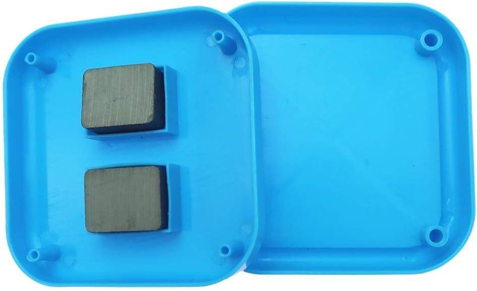 1 Piece Blue Tenlacum Square Magnetic Pin Cushion Sewing Essentials Needles Holder 8.5 x 8.5cm