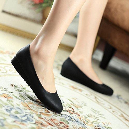Zapatillas De Deporte Shine Mujeres Fashion Sweet Low Wedge En Negro