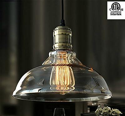 Ameride 40W ETL listed Edison brown glass shade Vintage Retro ceiling lamp AD-RL-C005