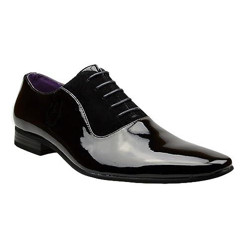 Zapatos para hombre Robelli, de piel, con cordón, color Negro, talla 40 EU
