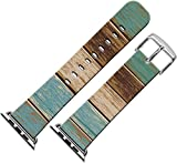 Band For Apple Watch 38,Series 1 Series 2 Strap for Apple Watch Compatible Replacement 38mm Vintage Wood Print