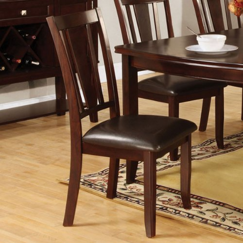Amazon.com   Edgewood Traditional Style Espresso Finish 9 Piece Dining Set    Table U0026 Chair Sets