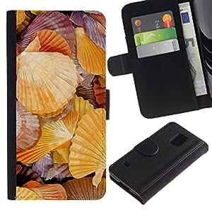 JackGot ( rakushki più Bereg rakovina ) Samsung Galaxy S5 V SM-G900 la tarjeta de Crédito Slots PU Funda de cuero Monedero caso cubierta de piel