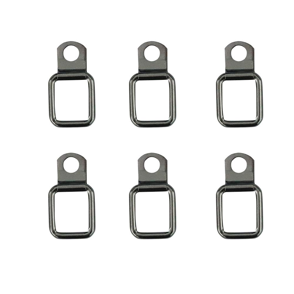 Compatible with Jeep JK Cargo Factory D-Rings bestaoo Tie-Down D-Rings for Jeep Wrangler JK JL TJ YJ LJ 6-Pack