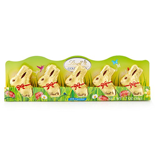Lindt Mini Gold Bunny, Milk Chocolate, 1.7 Ounce, 5 Count