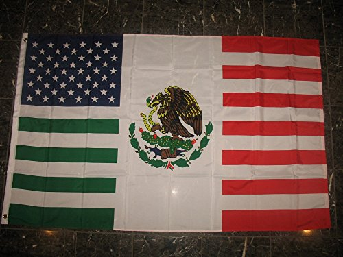 3x5 USA Mexico Combination Flag Mexican American Friendship 3'x5' Flag with grommets