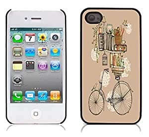 BIKE Hard Plastic and Aluminum Back Case for Apple iphone 4 4S by icecream design